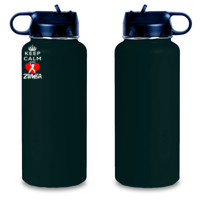 Keep Calm and Zumba! Engraved 25 oz Aluminum Water Bottle - Engraved 25 oz Aluminum Water Bottle