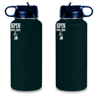 Spin Sweat Repeat - Engraved 25 oz Aluminum Water Bottle - Engraved 25 oz Aluminum Water Bottle